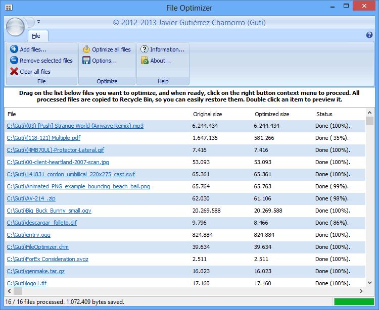File Optimizer screenshot
